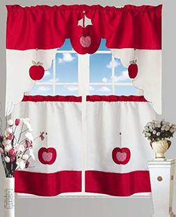 Bed Bath Fashions Chef's Collection Apple 3-Piece Pc Kitchen