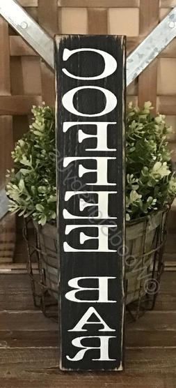 choose color coffee bar wood sign kitchen