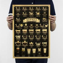 coffee cup bar kitchen drawing poster vintage poster retro w