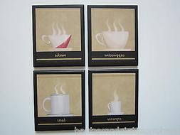 Coffee Cup Plaques kitchen wall decor signs espresso cappucc