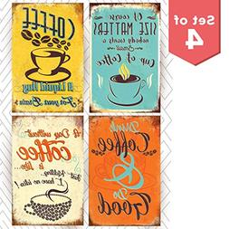 Throwback Traits Multicolor Coffee Sign Shop Posters Prints