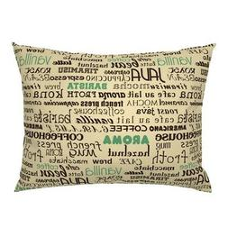 Coffee Typography Letting Words Phrases Kitchen Decor Pillow