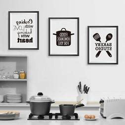 Cooking With Love Quote Baking With Heart Canvas Prints Kitc