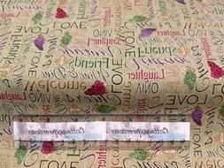 Cotton Fabric with Grapes, Kitchen Decor, Inspirational, Gra