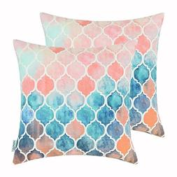 Pack of 2 CaliTime Cozy Throw Pillow Cases Covers for Couch