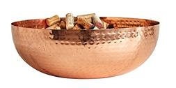 Creative Co-Op Metal Bowl with Copper Finish