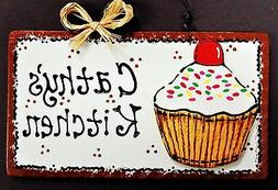 CUPCAKE OVERLAY Personalized KITCHEN SIGN Decor Wall Art Han