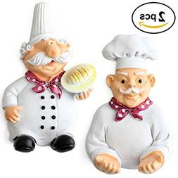 Coralpearl Small Cute Resin Chef Adhesive Utility Wall Hooks
