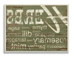 Stupell Home Décor Herbs And Words Green Kitchen Wall Plaqu