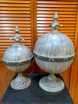 Decorative Lidded Sphere - Set of 2