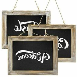 Greenco Decorative Wall Hanging Wooden Framed Chalkboards fo