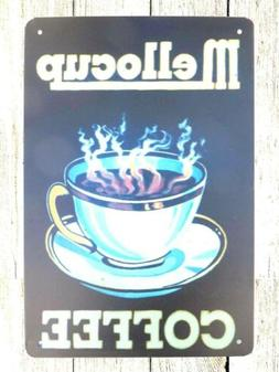 decorative wall plaques Mellocup Coffee kitchen store tin me