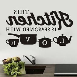 DIY Creative KITCHEN Wall Sticker Vinyl Removable Decal Art