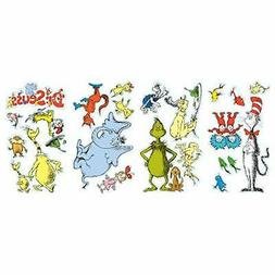 BirthdayExpress Dr Seuss Room Decor - Removable Wall Decorat