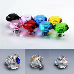 Drawer Door Knobs Crystal Cabinet Pull Handle Home Furniture