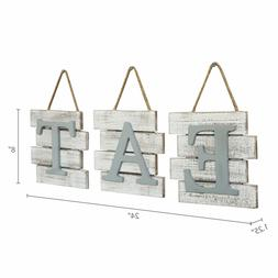 Barnyard Designs Eat Sign Wall Decor for Kitchen and Home, D