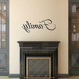 Vinyl Wall Art Decal - FAMILY Cursive Lettering - Inspiratio