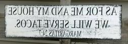 farmhouse wood sign me and my house