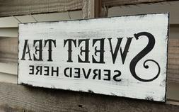 farmhouse wood sign SWEET TEA home decor wooden rustic count