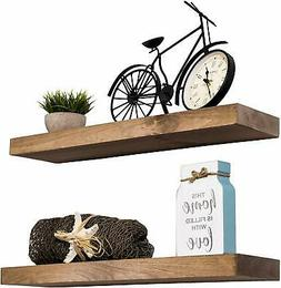 Imperative Décor Floating Shelves Rustic Wood Wall Shelf |