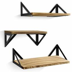 Floating Shelves Wall Mounted Set of 3 For Home Bedroom Bath