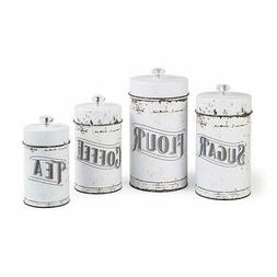 french country vintage white canister