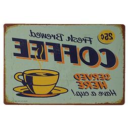 AiYahoo Fresh Brewed Coffee Served Here Have a Cup Retro Vin