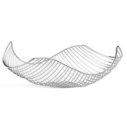 Vistella Fruit Bowl Basket in Chrome Silver - Stainless Stee