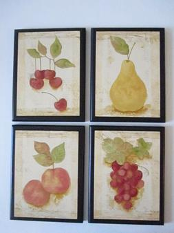 Fruit wall plaques Kitchen Home Decor Pictures cherries pear