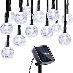Lumitify Globe Solar Christmas String Lights, 19.7ft 30 LED
