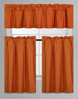 GorgeousHomeLinen  3 PC Kitchen Window Valance Tier Curtain