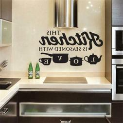 Home Removable Kitchen Wall Sticker Vinyl Decal for Bedroom