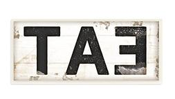 Stupell Industries EAT Typography Vintage Sign Wall Plaque A