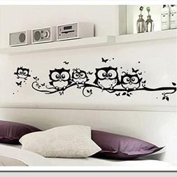 Robiear Kids Vinyl Art Cartoon Owl Butterfly Wall Sticker De