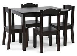 kids wood table 4 chairs