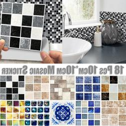 Kitchen Bathroom Tile Mosaic Stickers Self-adhesive Waterpro