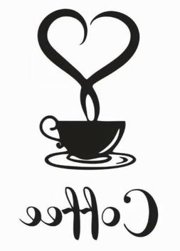 kitchen coffee house cup wall stickers vinyl
