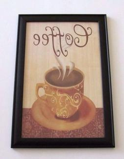 Kitchen Coffee Word Phrase Framed Art Picture Kitchen Home D