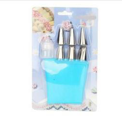 Kitchen Icing Piping Cream Pastry Bag Stainless Steel Nozzle
