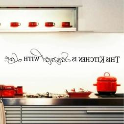 Kitchen Is Seasoned With Love Kitchen Wall Decor Stickers In