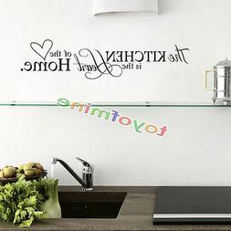Kitchen Letter Removable Vinyl Wall Stickers Mural Decal Quo