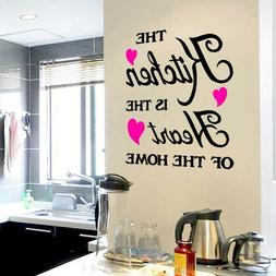 Kitchen Quote Vinyl Art Wall Sticker Decal Home Kitchen Deco