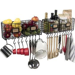 Wall35 Kitchen Storage Metal Wire Fruit Basket - Racks Wall
