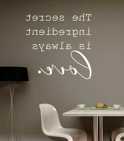 Kitchen Wall Art Stickers Secret Ingredient is Love Quote De