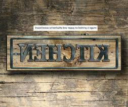 Kitchen Wood Sign Rustic Farmhouse Style Shelf Sitter Rustic