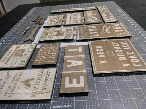 13 KIT Country Farmhouse Wooden Wall