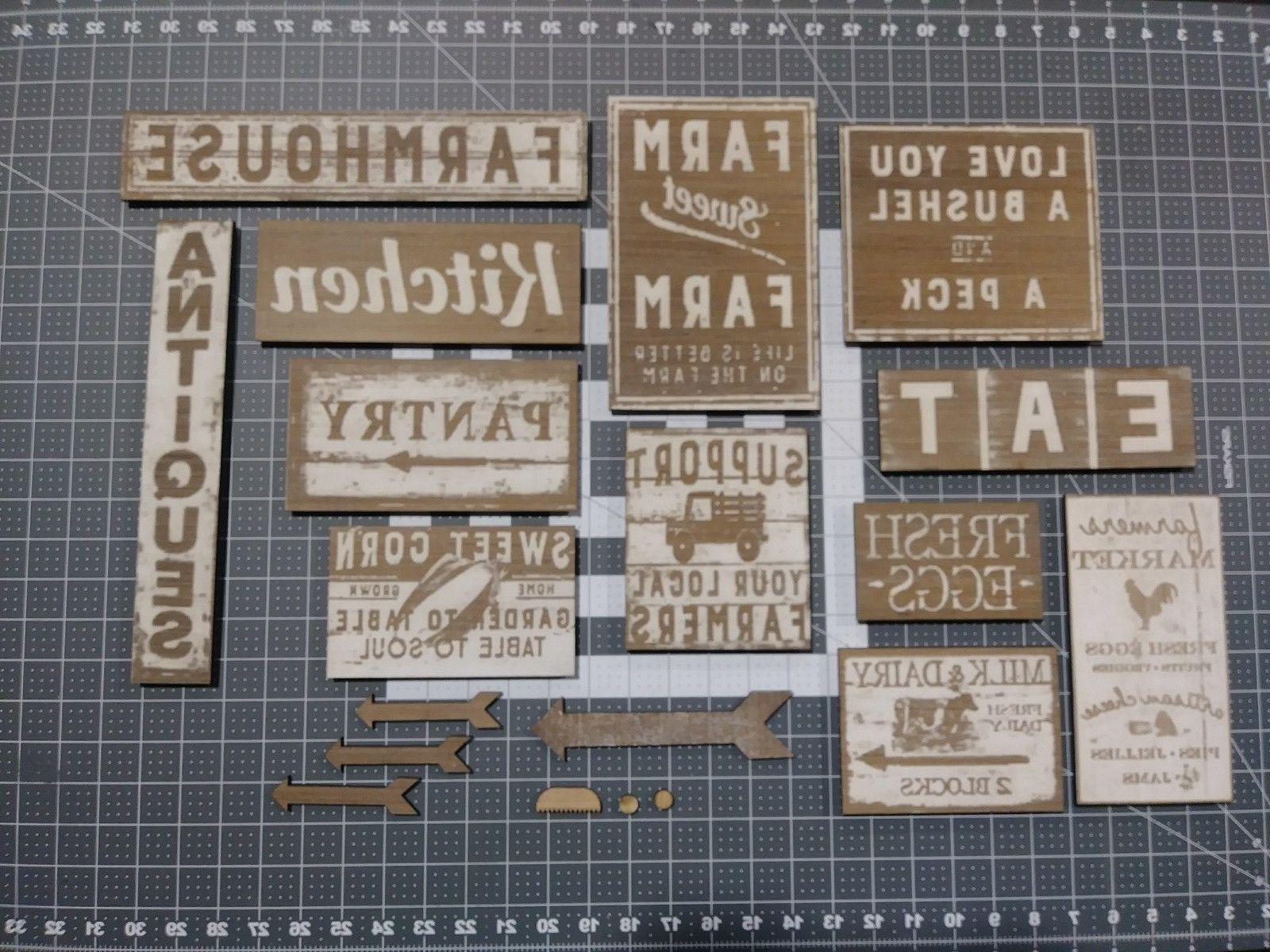13 sign kit rustic wood home decor