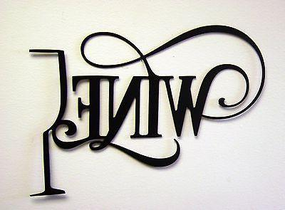 """14"""" Wine Glass Sign Kitchen UNFINISHED"""