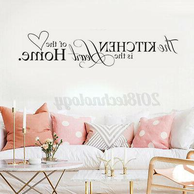1pc removable kitchen rules words wall stickers