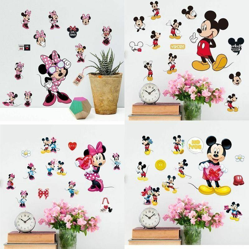 2018 Cute Mickey Minnie Vinyl Wall Decals Sticker Kids Nurse